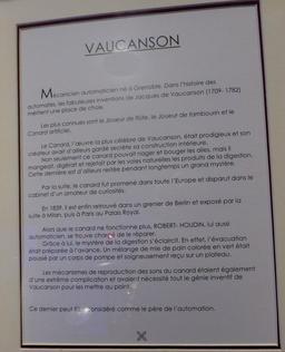 Vaucanson au musée des automates. Source : http://data.abuledu.org/URI/5822128f-vaucanson-au-musee-des-automates