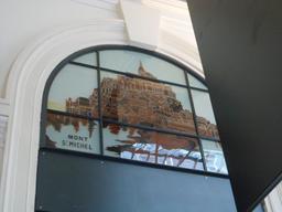 Verrière du Mont St Michel à la gare St Lazare. Source : http://data.abuledu.org/URI/54a88f92-verriere-du-mont-st-michel-a-la-gare-st-lazare
