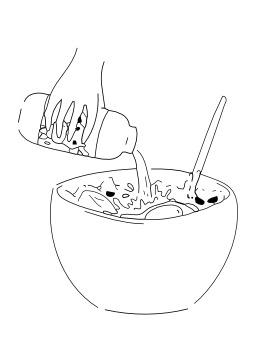 Verser un liquide. Source : http://data.abuledu.org/URI/5027d7a7-verser-un-liquide