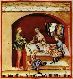 Vie quotidienne au Moyen Age : la soie. Source : http://data.abuledu.org/URI/50cafdd7-vie-quotidienne-au-moyen-age-la-soie