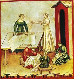 Vie quotidienne au Moyen Age : vêtements de lin. Source : http://data.abuledu.org/URI/50cb01c3-vie-quotidienne-au-moyen-age-vetements-de-lin