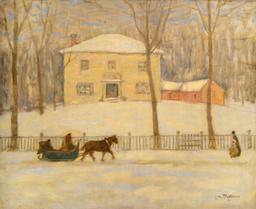 Vieille maison sous la neige à Montéal. Source : http://data.abuledu.org/URI/5356aafd-vieille-maison-sous-la-neige-a-monteal