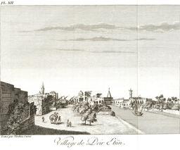 Village de Deir Etün en 1799. Source : http://data.abuledu.org/URI/591e2c53-village-de-deir-etun-en-1799