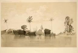 Village de Dobo dans les Moluques en 1838. Source : http://data.abuledu.org/URI/59816443-village-de-dobo-dans-les-moluques-en-1838