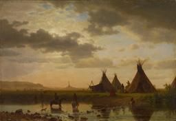 Village de Sioux Ohalilah en 1860. Source : http://data.abuledu.org/URI/535633aa-village-de-sioux-ohalilah-en-1860