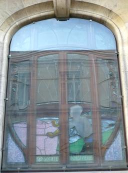 Vitrail de la CCSI à Nancy. Source : http://data.abuledu.org/URI/5819bb76-vitrail-de-la-ccsi-a-nancy