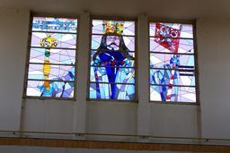 Vitrail de la gare de Poděbrady en Bohême. Source : http://data.abuledu.org/URI/54a85ef6-vitrail-de-la-gare-de-pod-brady-en-boheme