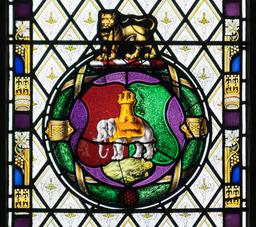 Vitrail du blason de Coventry. Source : http://data.abuledu.org/URI/5874f875-vitrail-du-blason-de-coventry