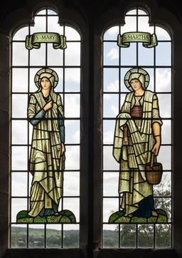 Vitraux de Marthe et Marie par Burne-Jones. Source : http://data.abuledu.org/URI/5874f518-vitraux-de-marthe-et-marie-par-burne-jones-