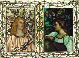 Vitraux Tiffany du printemps et de l'automne en 1892. Source : http://data.abuledu.org/URI/551c3736-vitraux-tiffany-du-printemps-et-de-l-automne-en-1892