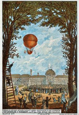 Vol aérien de Charles et Robert en 1783. Source : http://data.abuledu.org/URI/51b044fc-vol-aerien-de-charles-et-robert-en-1783