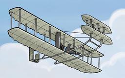 Vol des frères Wright en 1908. Source : http://data.abuledu.org/URI/53bd5381-vol-des-freres-wright