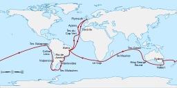 Voyage de Darwin sur le Beagle. Source : http://data.abuledu.org/URI/591c0f63-voyage-de-darwin-sur-le-beagle