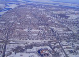 Vue aérienne de Montréal. Source : http://data.abuledu.org/URI/59bc5c63-vue-aerienne-de-montreal