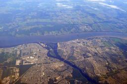 Vue aérienne de Trois-Rivières au Canada. Source : http://data.abuledu.org/URI/59bc7cca-vue-aerienne-de-trois-rivieres-au-canada