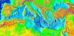 Vue aérienne du bassin méditerranéen. Source : http://data.abuledu.org/URI/5263a098-vue-aerienne-du-bassin-mediterraneen