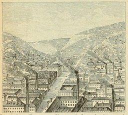 Vue de Saint-Étienne en 1877. Source : http://data.abuledu.org/URI/524db979-vue-de-saint-etienne-en-1877