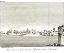 Vue du Caire en 1799. Source : http://data.abuledu.org/URI/591c87d0-vue-du-caire-en-1799
