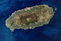 Vue satellite de l'île de Jeju en Corée du Sud. Source : http://data.abuledu.org/URI/54dbc566-vue-satellite-de-l-ile-de-jeju-en-coree-du-sud