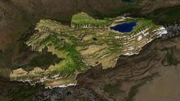 Vue satellite du Kyrgyzstan. Source : http://data.abuledu.org/URI/520e11ea-vue-satellite-du-kyrgyzstan