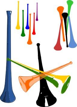 Vuvuzelas de toutes les couleurs. Source : http://data.abuledu.org/URI/52d31128-vuvuzelas-de-toutes-les-couleurs
