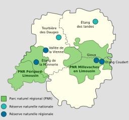 Zones vertes en Limousin. Source : http://data.abuledu.org/URI/520d074b-zones-vertes-en-limousin