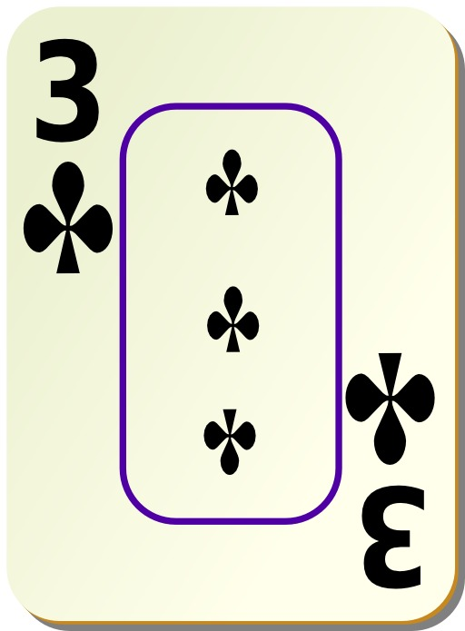 3 de trèfle noir