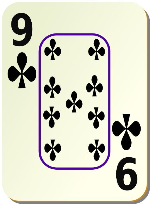 9 de trèfle noir