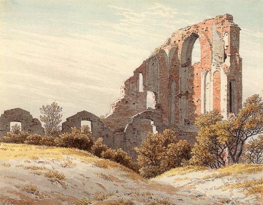 Abbaye allemande en ruine