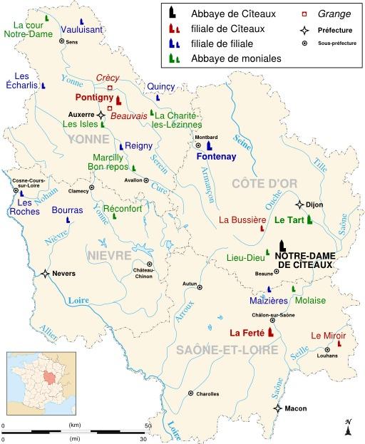Abbayes cisterciennes de Bourgogne