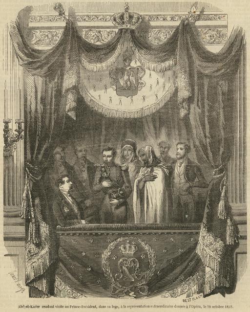 Abd-el-Kader et Napoléon III en 1852