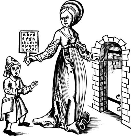 Abécédaire sur tablette de 1496