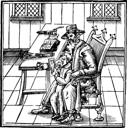 Abécédaire sur tablette de 1622