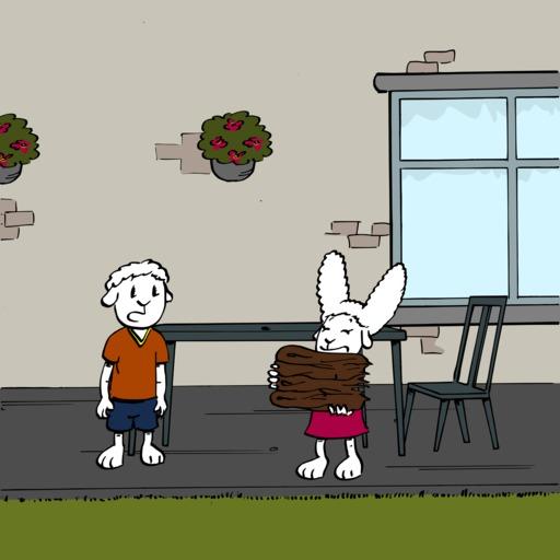 Abel et Bellina construisent une cabane - 01