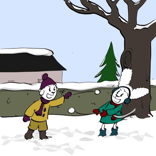 Abel et Bellina dans la neige - 02
