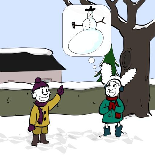 Abel et Bellina dans la neige - 03