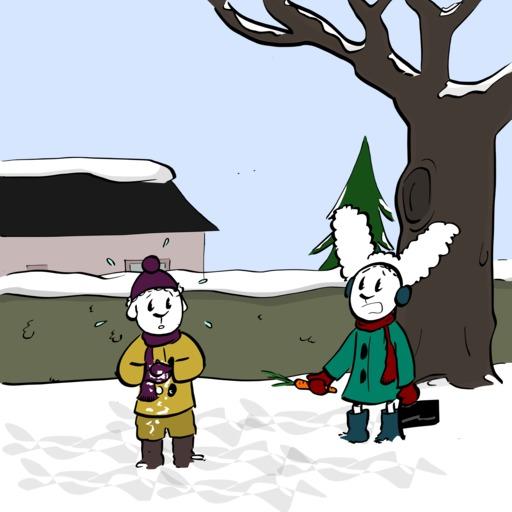 Abel et Bellina dans la neige - 04