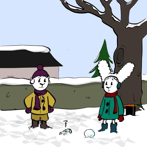 Abel et Bellina dans la neige - 06