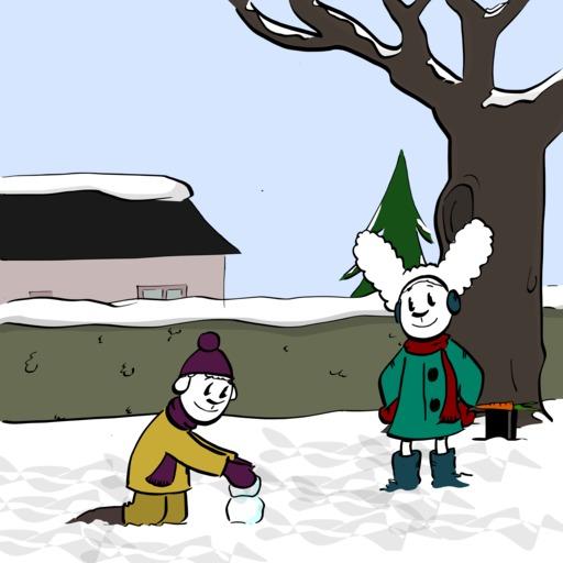 Abel et Bellina dans la neige - 07