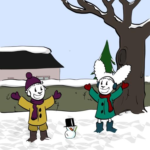 Abel et Bellina dans la neige - 08