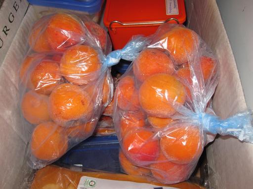 Abricots conservés au congélateur