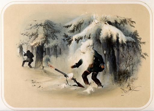 Accident de chasse en 1860