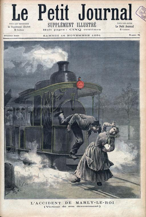 Accident de chemin de fer en 1891