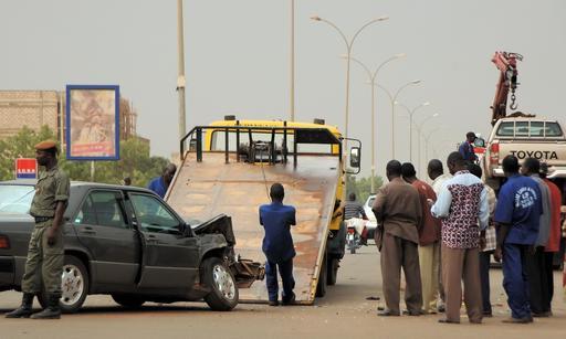 Accident de voiture à Ouagadougou