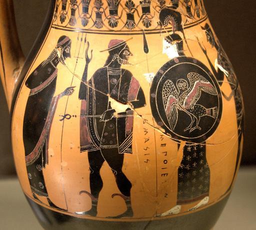 Accueil d'Héraclès dans l'Olympe
