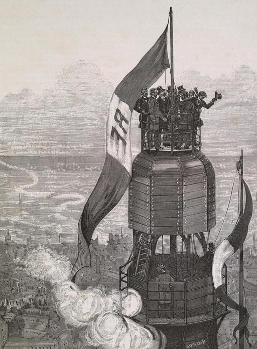 Achèvement de la Tour Eiffel en 1889