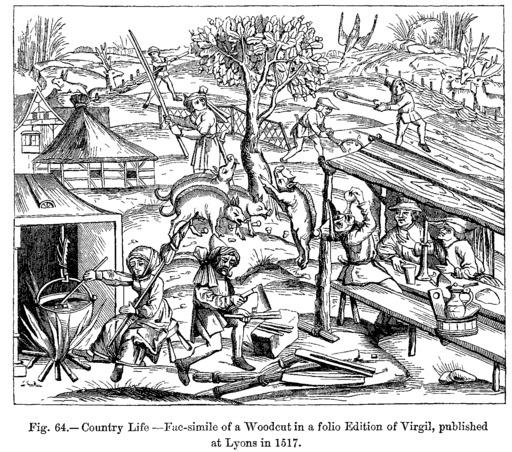 Activités à la campagne en 1518
