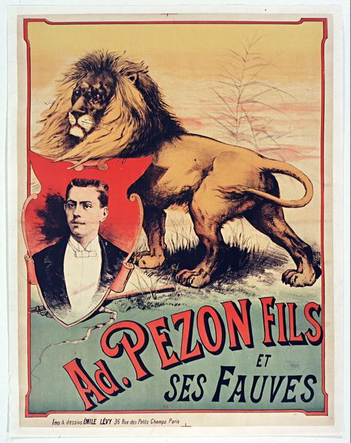 Adrien Pezon Fils et ses fauves en 1890