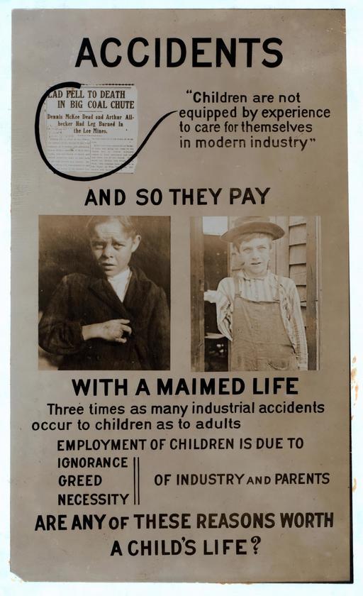 Affiche américaine contre le travail des enfants