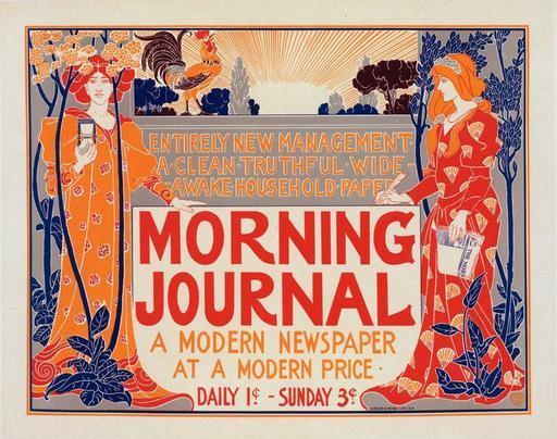 Affiche américaine pour un journal